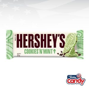 Hersheys Bar Cookies and Mint