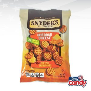Snyders Pretzel Sandwiches Cheddar Cheese