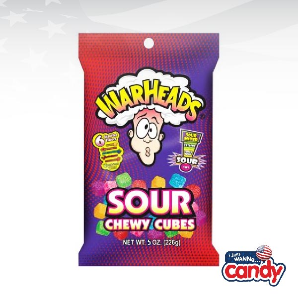 Warheads Chewy Cubes Peg Bag
